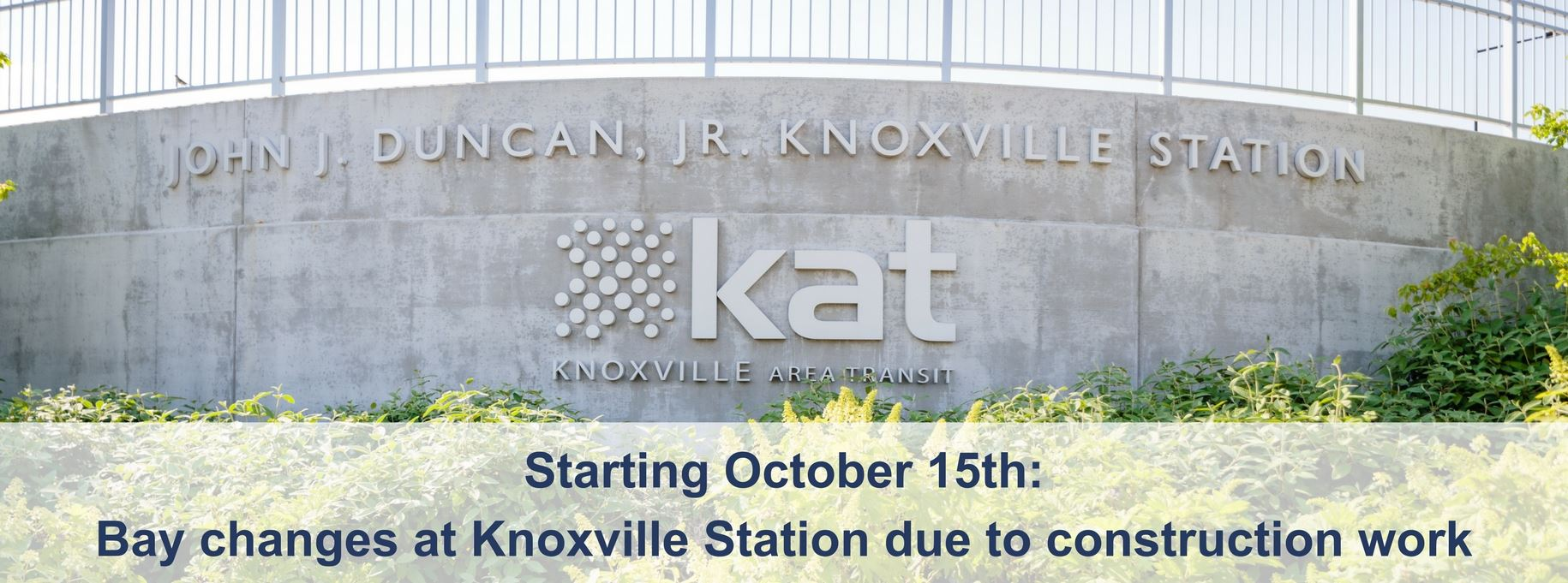 Construction Work at Knoxville Station